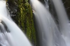 Triple-headed Sol Duc Falls, Olympic National Park, Washington royalty free stock photos