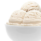 Triple ice cream in bowl stock image