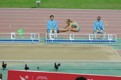 Triple jump Stock Images