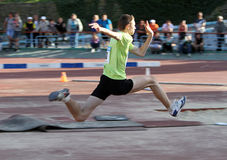 On the triple jump Stock Image