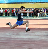 On the triple jump Stock Photography