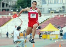 Triple Jump Athlete Royalty Free Stock Photos