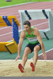 Triple jump on Znamensky Memorial 2014 Stock Photography