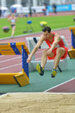 Triple jump on Znamensky Memorial 2014 Stock Images