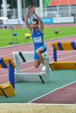 Triple jump on Znamensky Memorial 2014 Stock Photo