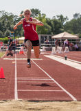 Triple Jumper. A triple jumper at a track and field even in Cottonwood, California Stock Photography