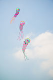 Triple kites Royalty Free Stock Photos