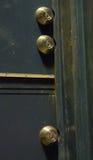 Triple locked door. Door with three locks Royalty Free Stock Photo