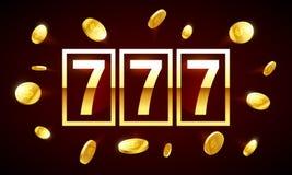 777, triple lucky sevens jackpot royalty free illustration
