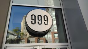 999 Circular signage. Triple Number 999.  Great picture to use for numerology signage Stock Image