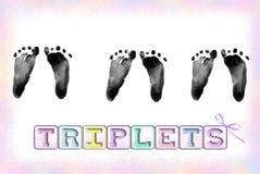 Triple peu Images libres de droits