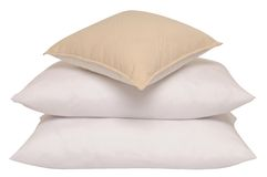 Triple pillow. Isolated Royalty Free Stock Image