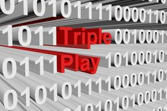 Triple Play Stockfoto