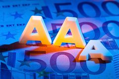 The triple a of a rating agency. aaa Stock Photos
