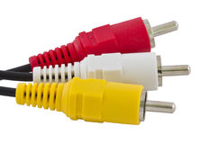 Triple RCA connector stock photo