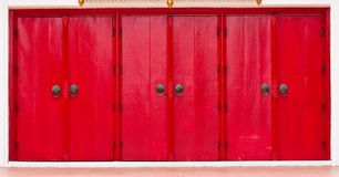Triple Red Doors Royalty Free Stock Photo