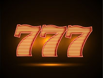 Triple seven 777 stock illustration