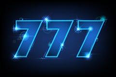 Triple Seven Jackpot Stock Image