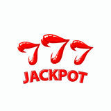 Triple seven jackpot illustration. Women`s lips and 777 winnings in the casino. royalty free illustration