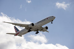 Triple seven jet American Airlines Stock Photo