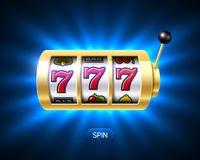 Triple sevens casino jackpot banner royalty free illustration