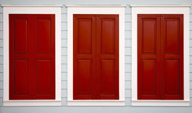 Triple Shutters Stock Photography