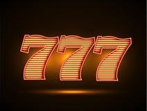 Triple siete 777 Fotografía de archivo libre de regalías