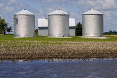 Triple Silos Royalty Free Stock Photography