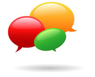 Triple speech bubbles Stock Images