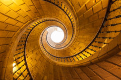 Triple spiral staircase. In Santo Domingo de Bonaval convent. Santiago de Compostela, Spain Stock Photography