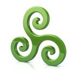 Triple spiral symbol Royalty Free Stock Photo