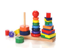 Triple Stacking Toy Royalty Free Stock Photos