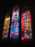 Triple Stained Glass Window Royalty Free Stock Photo