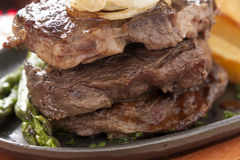 Triple Steaks Stock Images