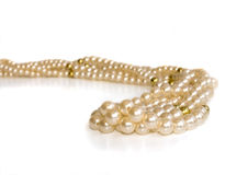 Triple strand simulated pearls Stock Photography