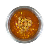 Triple Succotash In Metal Bowl Top View Royalty Free Stock Image