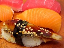 Triple Sushi Platter Royalty Free Stock Photo