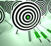 Triple Target Shows Winning Strategy And Excellence Stock Image