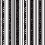 Triple thin vertical black striped and white star inside wide Royalty Free Stock Images
