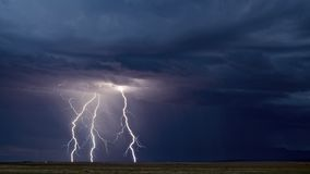 Triple Threat: Lightning Royalty Free Stock Photography