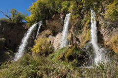 Triple Waterfall Stock Images