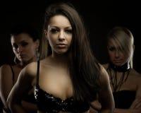 Triple women portait Royalty Free Stock Photos