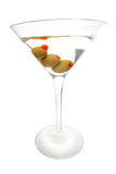 Triplet Martini. Isolated martini with three olives; includes CP Stock Photo