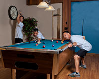 Triplets of billiards Stock Image