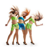 Triplets Graceful girls Stock Photography