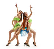 Triplets sisters Graceful girls Stock Photography