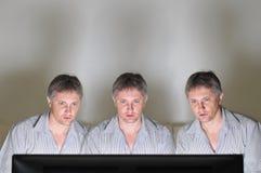 Tripletti della televisione Fotografie Stock