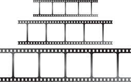 Triplicar-se branco h da película Foto de Stock