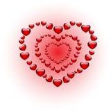 Triplichi il cuore Fotografia Stock