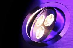 Triplo-diodo emissor de luz de Warmwhite Imagem de Stock Royalty Free